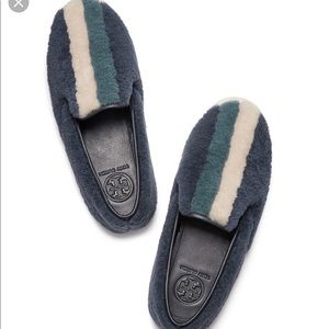 Tory Burch Bamford Shearling Sneakers